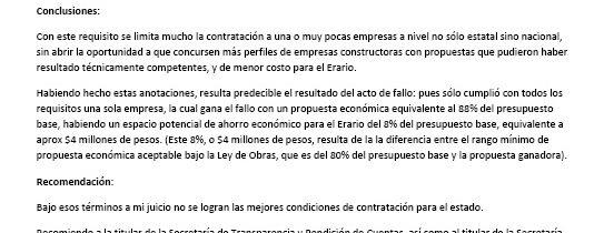 Primer Testigo Social sube informe de observaciones a Compranet, Sinaloa