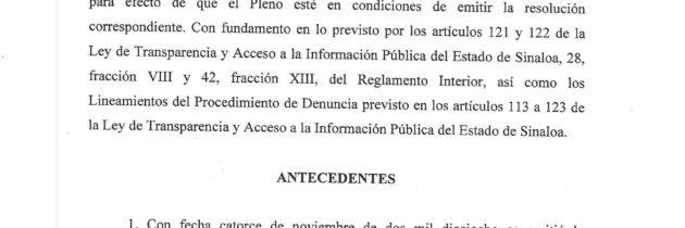 El Suntuas cuenta con cinco días para transparentar, o será sancionado por la CEAIP
